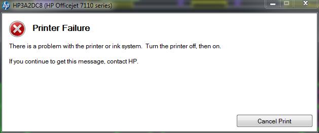 officejet 7110 err printer failure 0x61011bed printerknowledge