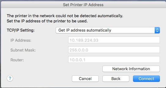 how to change printer ip address