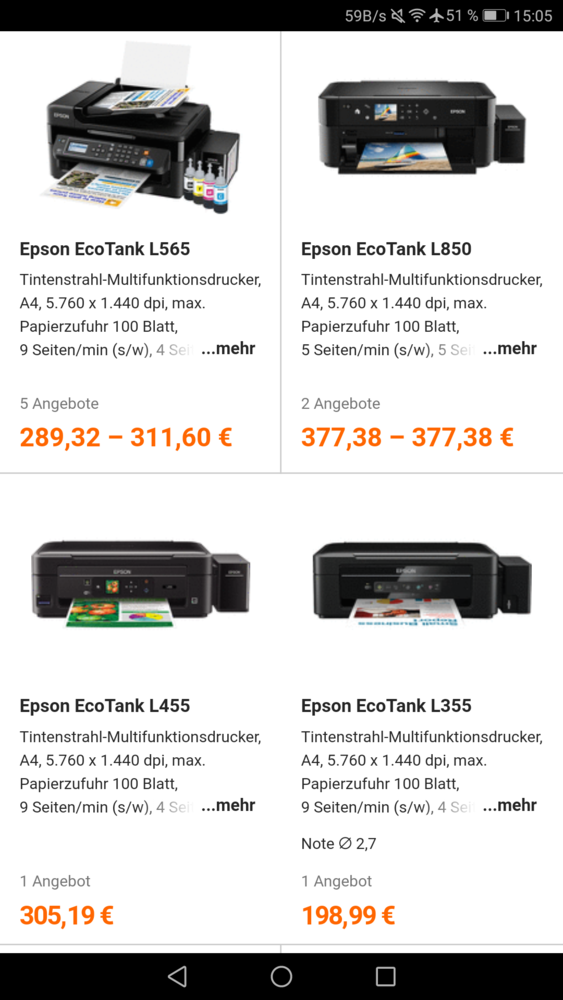 Buying advice Canon G series vs  Epson Ecotank 2650